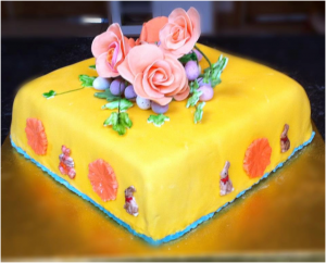 Easter cake - wheat free fruit cake - low sugar